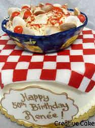 Food 17 Spaghetti e Vongole Birthday Cake