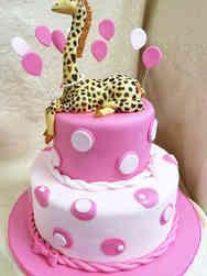 Girls 12 Princess Giraffe Baby Shower Cake