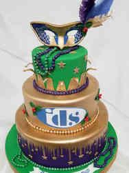 Spring 03 Mardi Gras Masquerade Cake