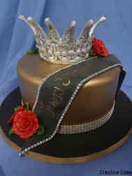 Fashion 62 Pagent Queen Birthday Cake