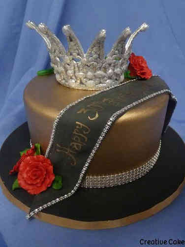 Fashion 62 Pagent Queen Birthday Cake