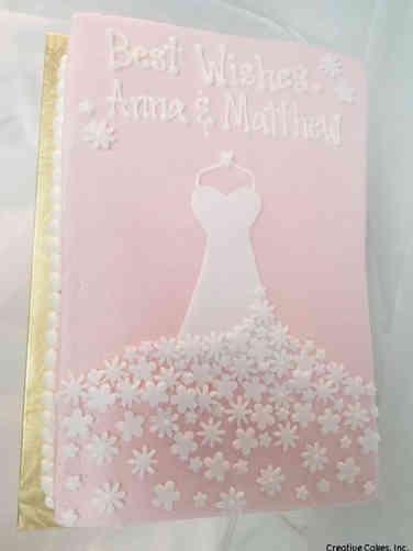 Dress 08 Pink and White Flower Dress Wedding Shower Cake