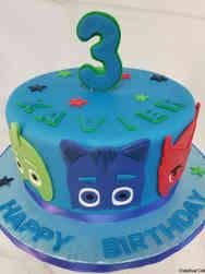 Superheroes 10 PJ Masks Birthday Cake