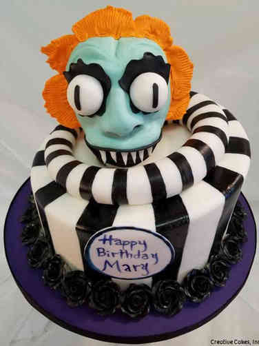 Pop 21 Beetlejuice Birthday Cake