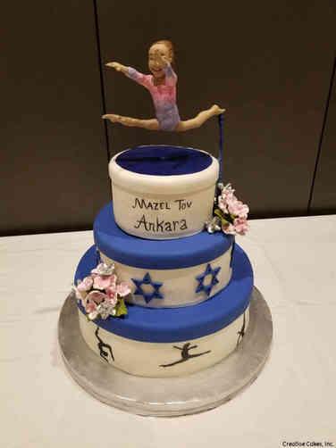 Mitzvah 20 Gymnastics Bat Mitzvah Cake