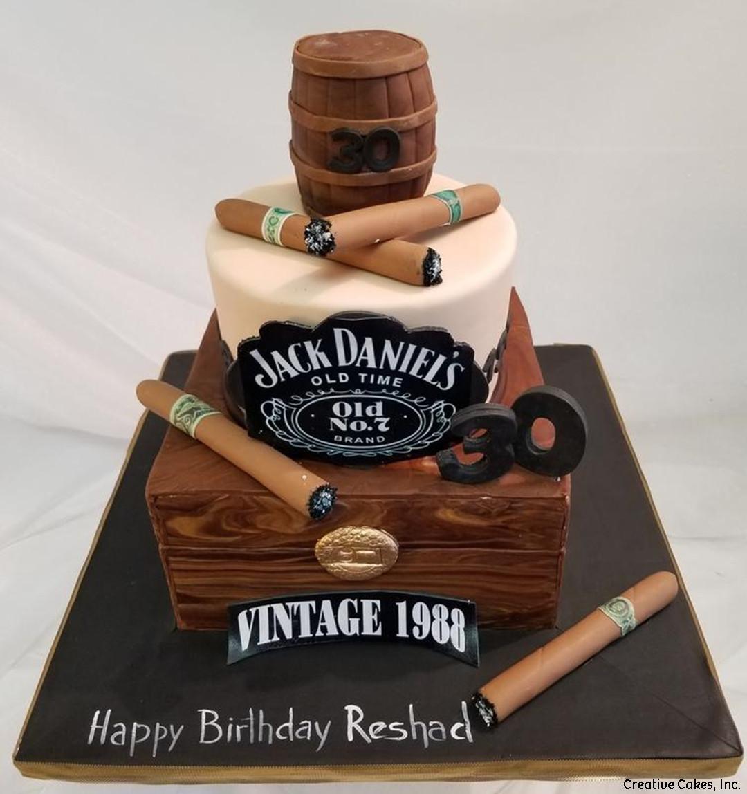 Food 07 Jack Daniel\u0027s and Cigars Birthday Cake