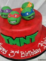 Superheroes 06 Teenage Mutant Ninja Turtles Birthday Cake