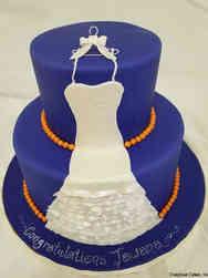 Dress 04 University Colors Bridal Shower Cake