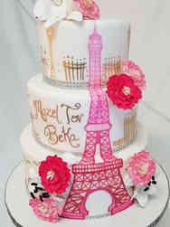 Mitzvah 04 Paris Pink Bat Mitzvah Cake