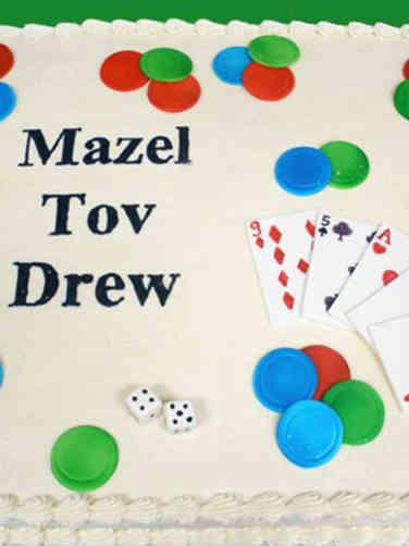 Mitzvah 09 Casino Themed Bar Mitzvah Sheet Cake