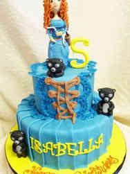 Princesses 25 Merida Brave Birthday Cake
