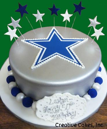Sports 26 Dallas Cowboys Logo Birthday Cake