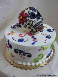 Autumn 12 Sugar Skull Dia de Muertos Cake