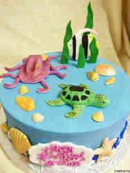 Animals 02 Sea Creatures Birthday Cake