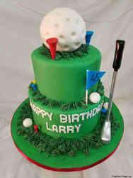 Sports 51 Two Tier Golfer Birthday Cake