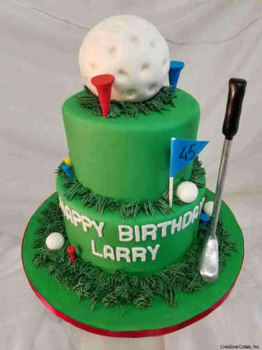 Sports 51 Two Tier Golfer Birthday Cake