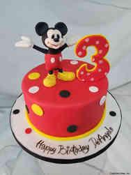 TV 30 Mickey Third Birthday Cake
