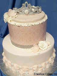 Unique 02 Pink Princess Bridal Shower Cake