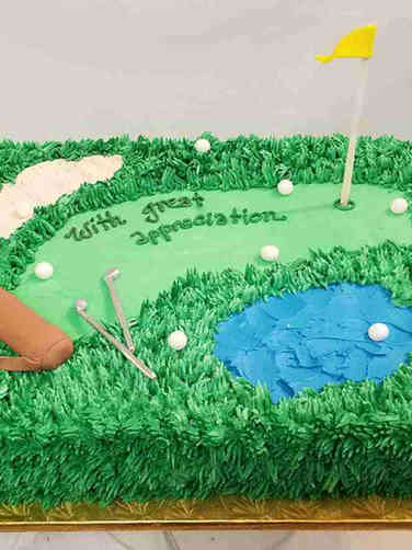 Professional 24 Golf Course Farewell Cake