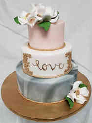 Trendy 04 Marble Love Wedding Cake