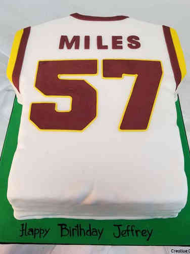 Sports 16 Washington Redskins Jersey Birthday Cake