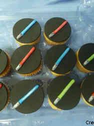 Kids 24 Little Lightsabers Birthday Cupcakes