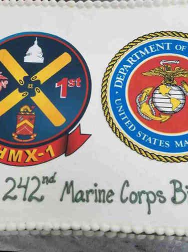 Military 04 Marine Corps Birthday Military Cake