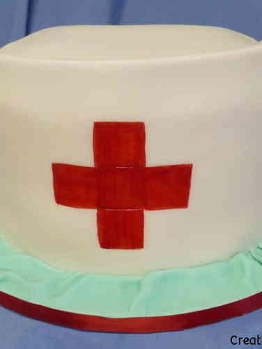 Professional 17 Nurse's Cap Celebration Cake