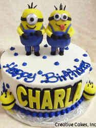 Movies 22 Minions Birthday Cake