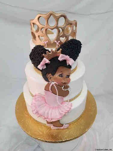 Girls 26 Giggling Princess First Birthday Cake