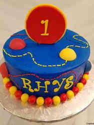 Boys 14 Bouncing Balls First Birthday Cake