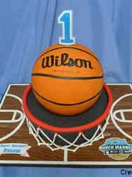 Boys 10 Basketball First Birthday Cake