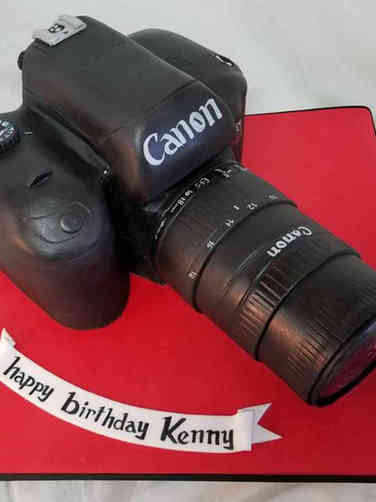 Hobbies 18 DSLR Camera Birthday Cake