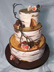 Trendy 21 Rustic Birch Logs Wedding Cake