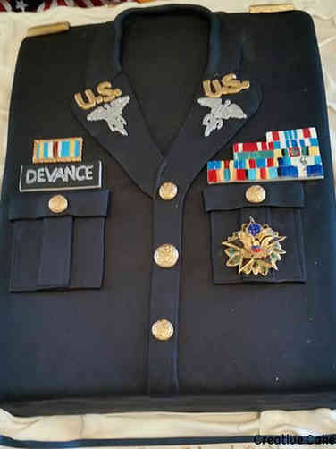Military 02 Army Uniform Military Promotion Cake