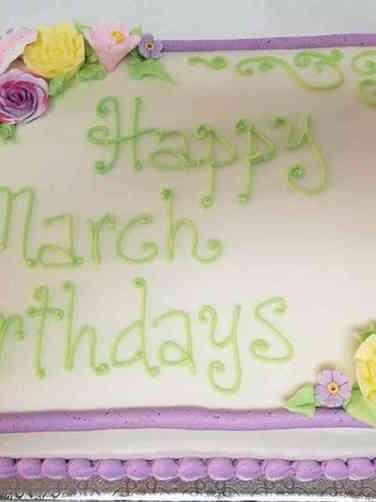 Floral 06 Spring Pastels Birthday Cake
