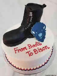 College 01 Combat Boot Howard University Graduation Cake