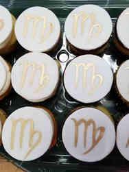 Adult 03 Virgo Symbol Birthday Cupcakes