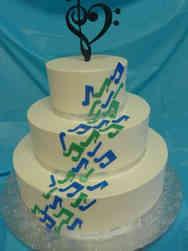 Unique 15 Music Notes Wedding Cake