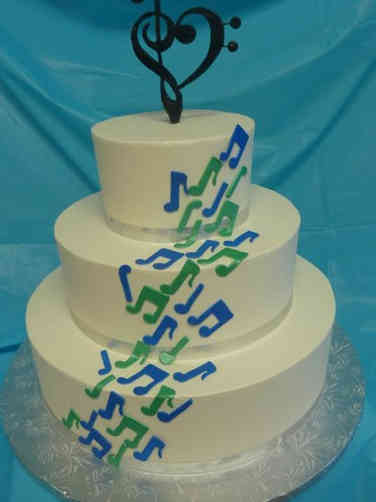 Unique 15 Music Notes Wedding Cake