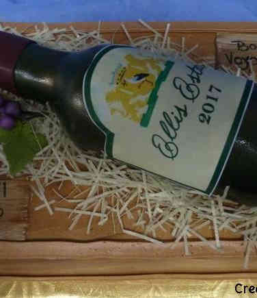 Professional 18 Wine Bottle Retirement Cake
