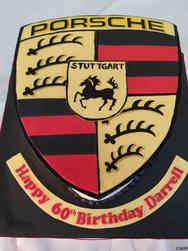 Hobbies 56 Porsche Logo Birthday Cake