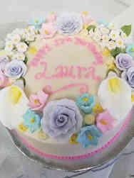 Princesses 12 Flower Wreath Birthday Cake