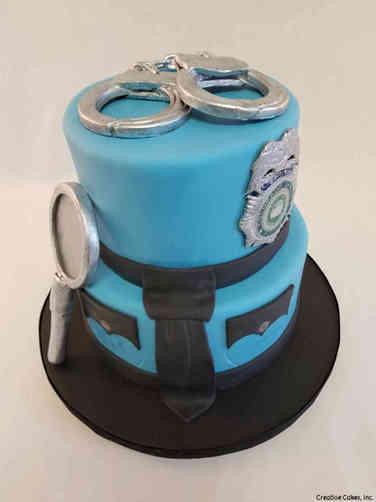 Professional 27 Detective Promotion Celebration Cake