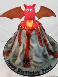 Animals 18 Dragon Volcano Birthday Cake