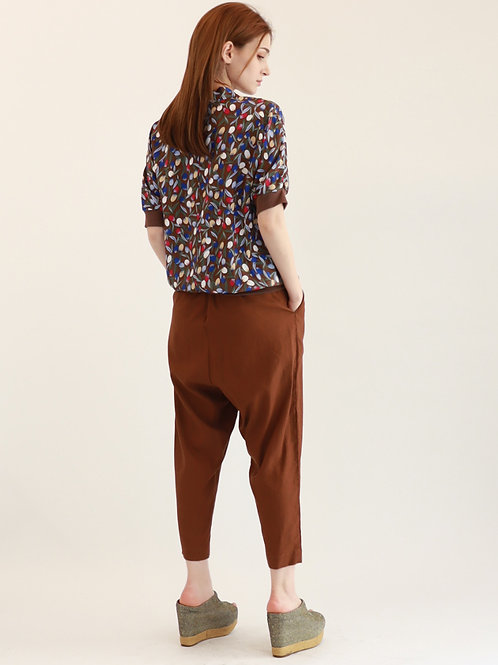 [Monteeth] Windie Blouse Tree Brown