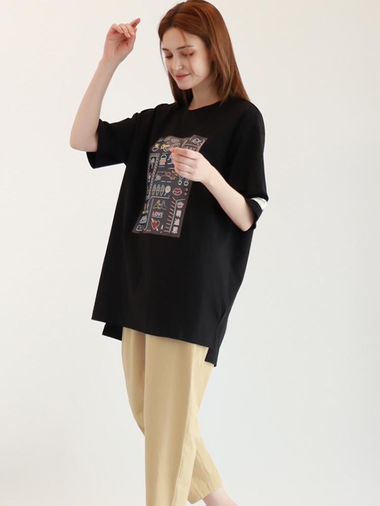 Neon Art T-shirt / Black