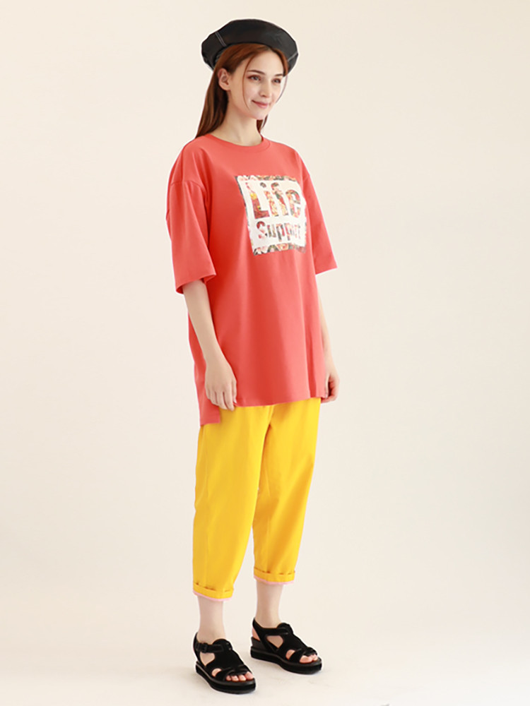 Life Support T-shirt / Coral Red
