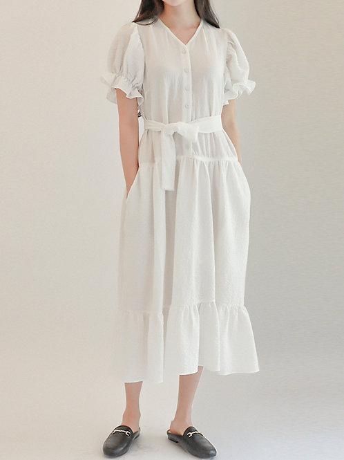 [Monteeth] Mongsang Dress in White