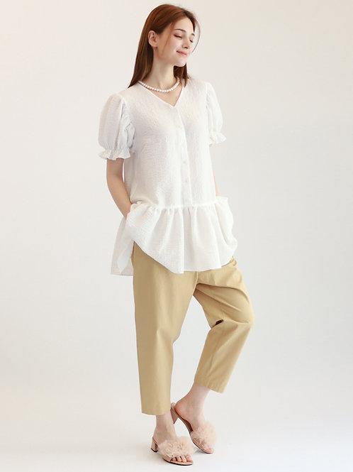 [Monteeth] Mong Sang Blouse in White